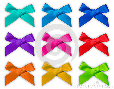 Colorful ribbon bow / bows