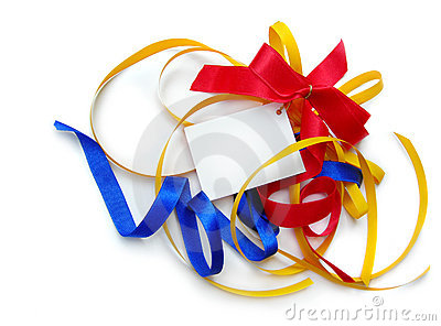 Colorful ribbons,card,add text