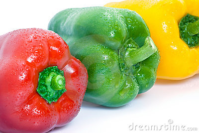 Colorful ripe bell peppers