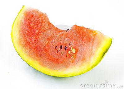Colorful ripe watermelon in a white background