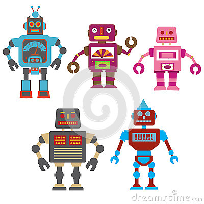 Colorful robots