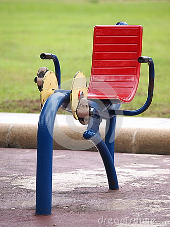 Colorful robust metal public exercise equipment