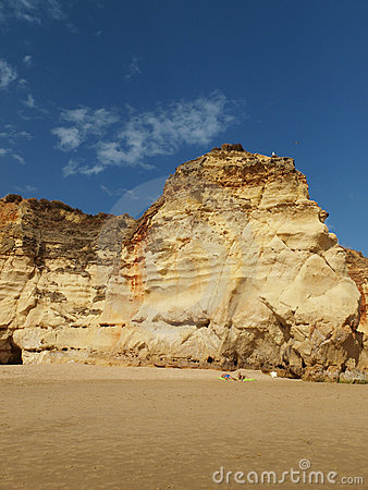 Colorful rock cliffs of the Algarve