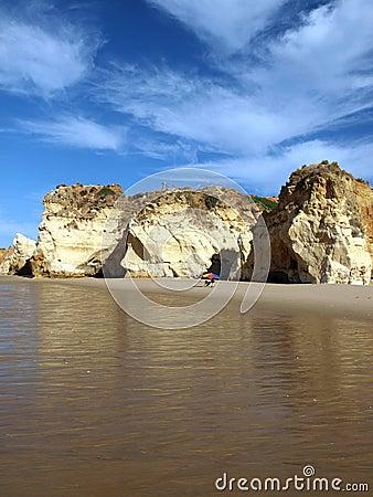 Colorful rock cliffs of the Algarve