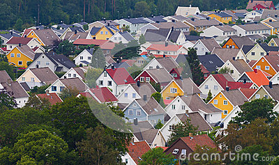 Colorful roofs