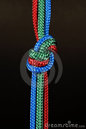 Free Colorful Rope Knot Stock Photography - 21027562