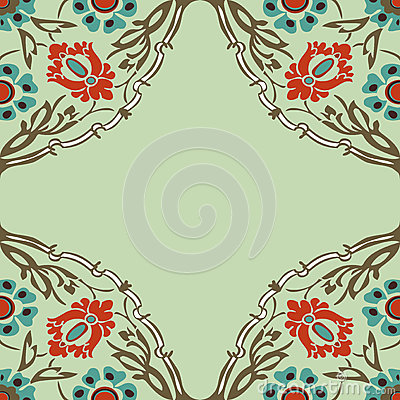 Colorful Round Floral Border Corner Background Vector ...