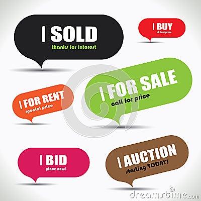 Colorful sale bubble set