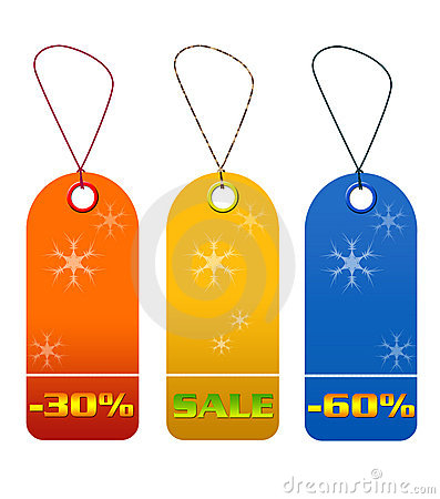 Colorful sale and discount tags
