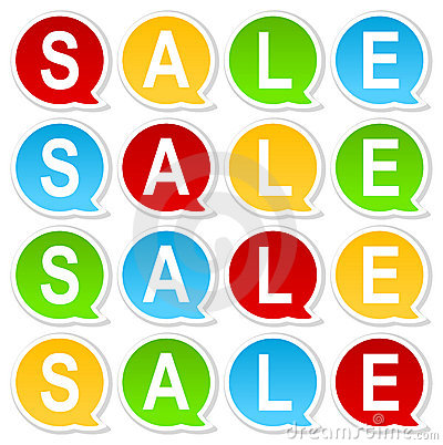 Colorful Sale tag