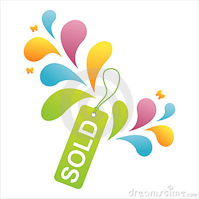 Colorful sale tag background