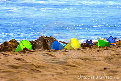 Colorful Sand buckets