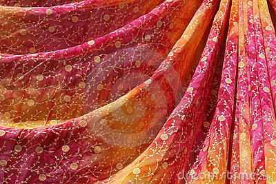 Colorful sari, India