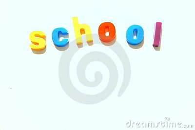 Colorful school abstract