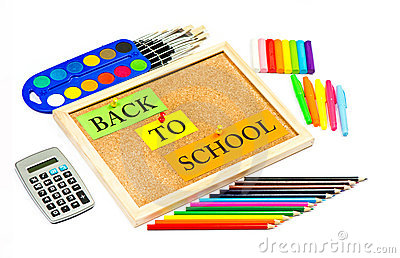 Colorful school accessories