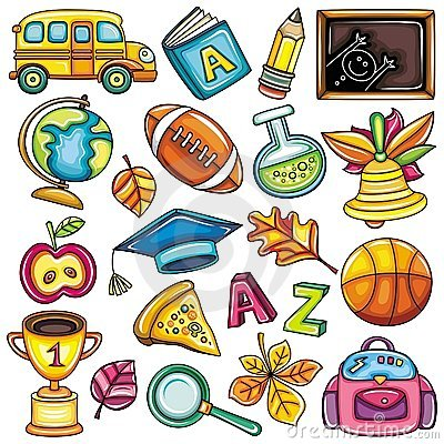 Free Colorful School Icons Royalty Free Stock Image - 16349346