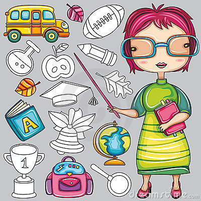 Colorful school icons 2