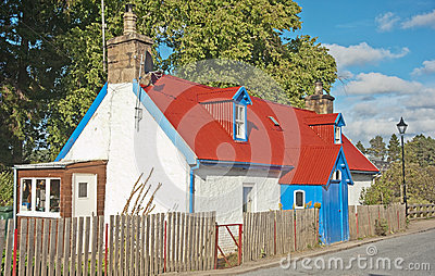 Colorful Scottish cottage