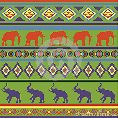 Colorful seamless abstract ethnic ornament.
