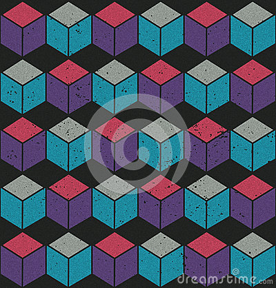 Colorful seamless cube pattern