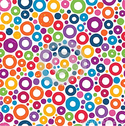 Free Colorful Seamless Pattern With Hand Drawn Circles. Royalty Free Stock Image - 37727896