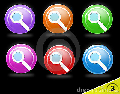 Colorful search icon set
