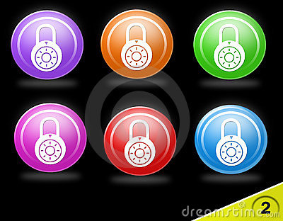 Colorful security icon set