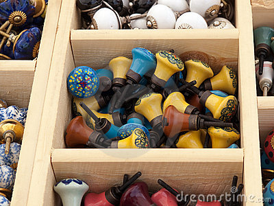 Colorful selection of DIY cabinets parts knobs