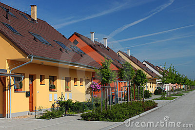 Colorful semi-detached houses