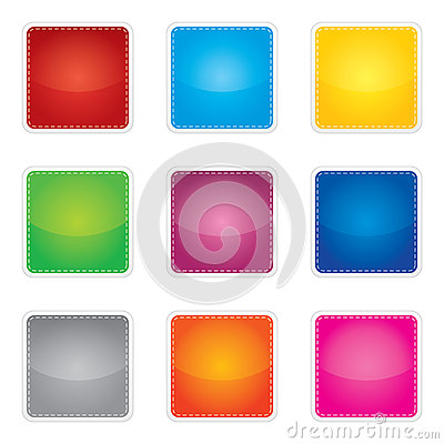 Free Colorful Set Of Blank Stickers Stock Photos - 41250673