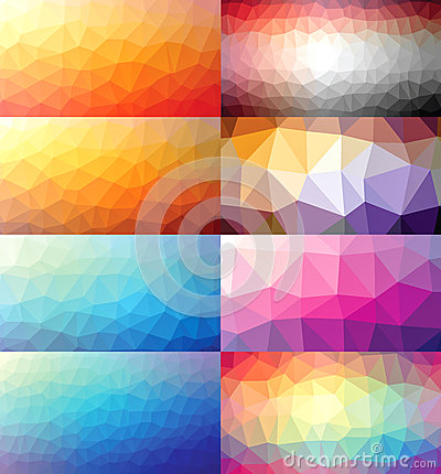 Free Colorful Set Of Polygonal Backgrounds Royalty Free Stock Photos - 50877438
