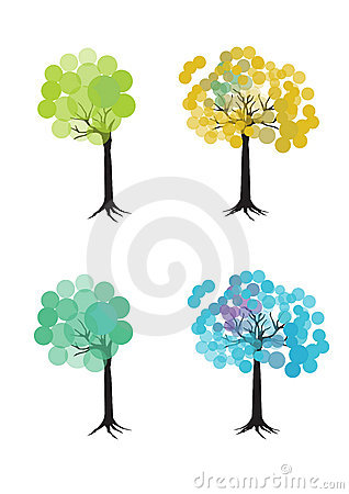 Colorful set of trees