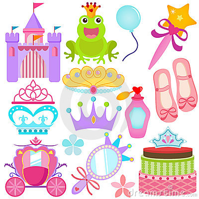 A colorful set of Vector Icons : Sweet Princess Se