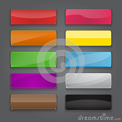 Colorful set of web banner buttons with different