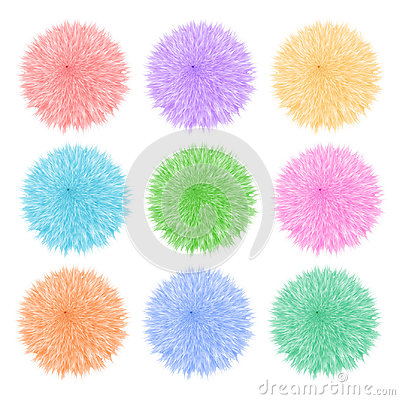 Free Colorful Set With Of Fluffy Balls. Pompom  On White Background. Royalty Free Stock Image - 97750516
