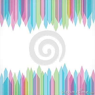 Colorful sharp edge strip background