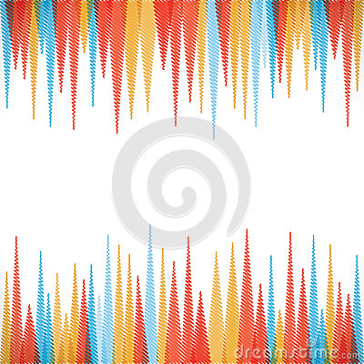 Colorful sharp edge strip background