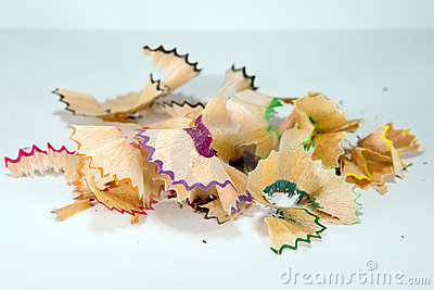 Colorful shavings