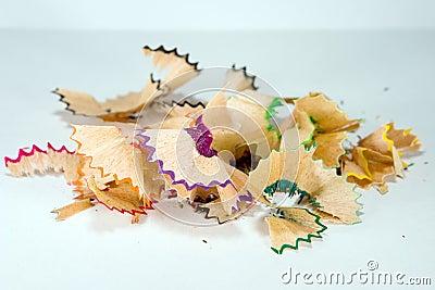 Colorful shavings