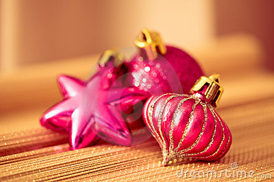 Colorful shining Christmas ornaments