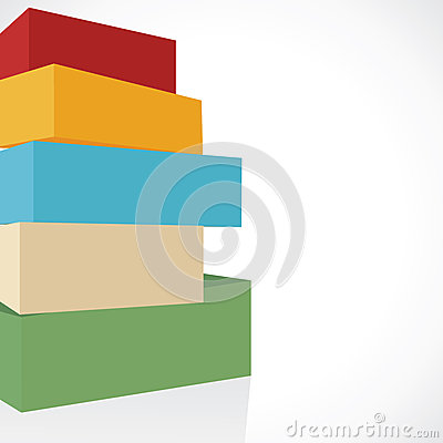 Colorful shiny blocks