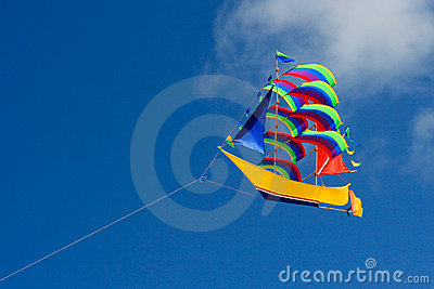 Colorful ship kite.