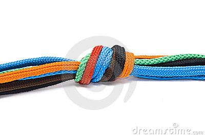 Colorful shoelaces knot