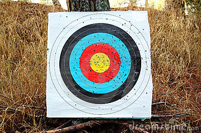 Colorful shooting target