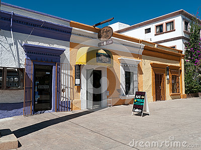 Colorful shops in small town Mexico Editorial Stock Image