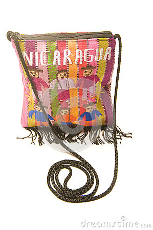 Colorful shoulder bag carryall made in Nicaragua