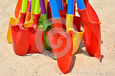 Colorful shovel as Kid s toy