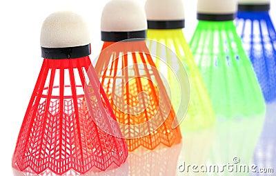 Colorful shuttlecocks for badminton