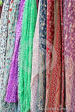 Colorful silk dresses