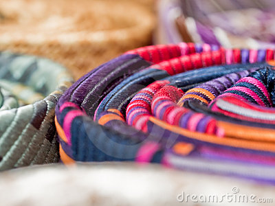 Colorful silk ties